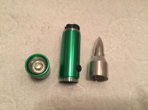 Portable Glass Breaker Emergency Bullet LED Flashlight pictures & photos
