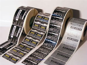 Various Customized Self Adhesive Sticker or Label with Printing pictures & photos