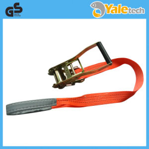 UV/GS Certified 5t Short End Reinforced Polyester Lashing Strap pictures & photos