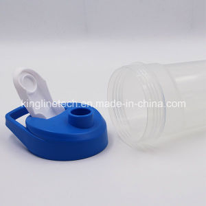 400ml New Design Plastic Protein Shaker Bottle with Blender Mixer Ball (KL-7054) pictures & photos