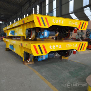 Low Voltage Motorized Handling Wagon with Safety Device on Rails pictures & photos