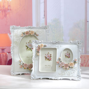Retro White Rose Flower Home Decor Photo Frame pictures & photos