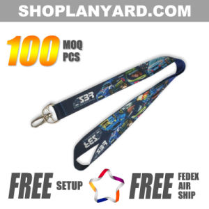 Colorful Heat Transfer Neck Lanyard with Low MOQ