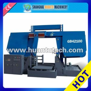 Dual Column Horizontal Semi-Auto Band Saw Iron Cut Machine pictures & photos