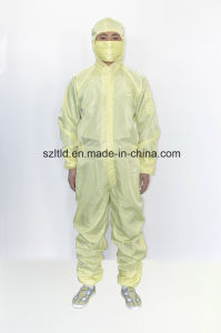 ESD Jumpsuit with Cap-Straight Opening Design (LTLD103-6) pictures & photos
