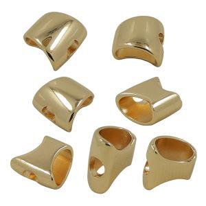 Rectangle Handbag Metal Gold Drawstring Cord End Stopper pictures & photos