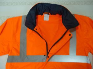 Two Tone Reflective Safety Rain Coat pictures & photos