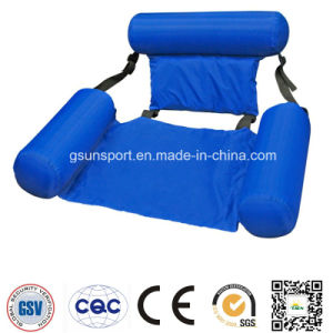 Inflatable Swimming Pool Float Chair Lounge Durable Comfort Armrest Water Summer