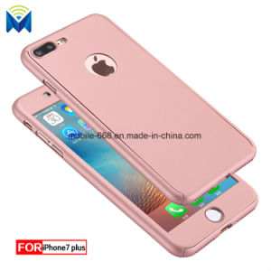 360 Degree Full Body Hard Protector Case Cover + Tempered Glass for iPhone X 6 6s 7 Plus