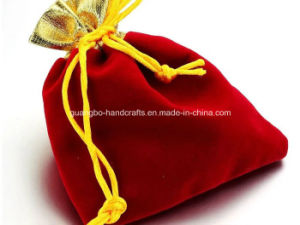High Quality Simple Design Velvet Pouch Bags pictures & photos