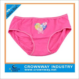Girls Pink Heat Transfer Printing Underwear/ Hipster pictures & photos