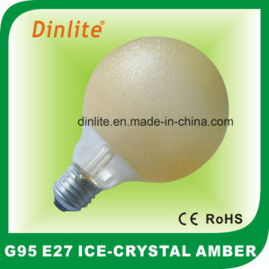 G125-40W 60W 75W 100W Ice Crystal Amber Incandescent Bulb pictures & photos