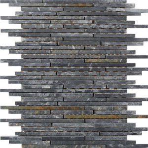 Natural Mixed Color Slate Mosaic for Bathroom Wall pictures & photos