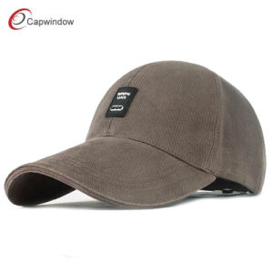 Rubber Patch Logo Washed Heavy Brushed Cotton Twill Golf Baseball Caps pictures & photos