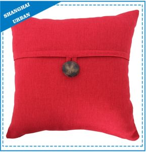 Home Decoration Red Button Throw Pillow pictures & photos