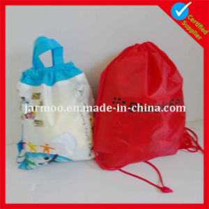 National Flag Design Polyester Drawstring Bag pictures & photos