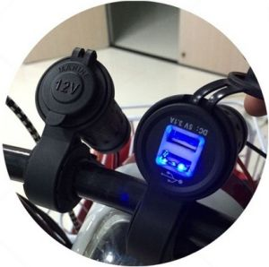 Waterproof Motorcycle Handbar USB Scoket Power Phone Charger with 60 Cm Line Length Send 2PCS Fuse as Gift pictures & photos