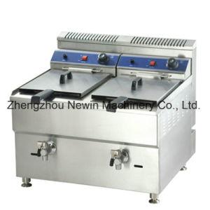 18L+18L Commercial Natural Gas Fryer for Sale pictures & photos