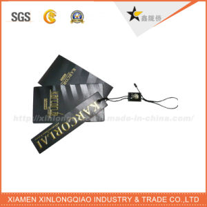 Hot Selling Factory Direct Black Emboss Paper Hang Tag pictures & photos