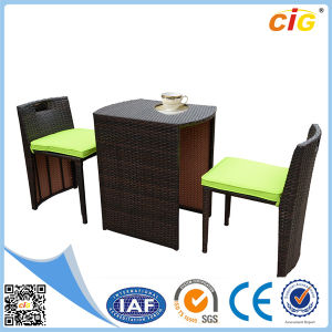 3PCS Outdoor Wicker Rattan Set Dining Table Chairs pictures & photos