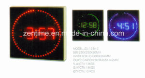 LED Digital Display Wall Square Shape Clock pictures & photos