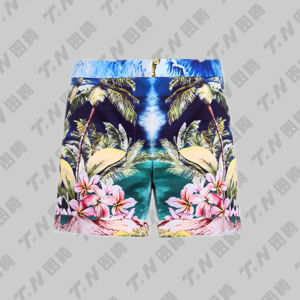Custom Sublimation Drawstring 4 Way Stretch Mens Board Shorts pictures & photos