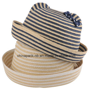 Straw Kids Hats with Cat Ears (CPA_42031) pictures & photos