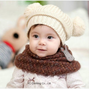 New Fashion Lovely Dual Ball Knit Sweater Cap pictures & photos