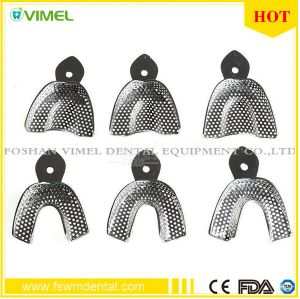 6PCS Dental Products Stainless Steel Impression Tray Bite Denture Instrument pictures & photos