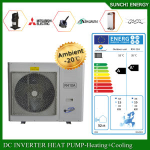 North Europe -25c Winter Floor Heating 100~350sq Meter Room 12kw/19kw/35kw High Cop Auto-Defrost Evi Split Air Source Heat Pump System pictures & photos