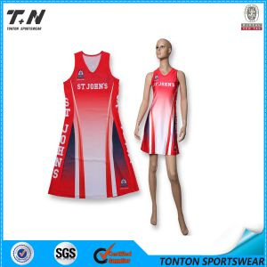 High Quality Sublimation Custom Netball Dress