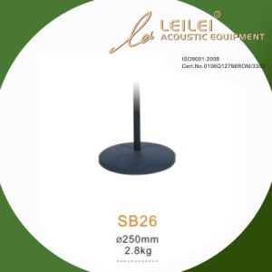 Height Ajustable Microphone Stand Base (SB26) pictures & photos