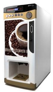 Coin Operation Coffee Vendng Machine with Cup Dispenser (F303V) pictures & photos