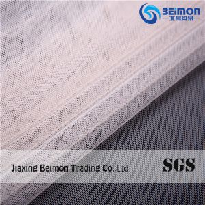 Hexagonal Nylon Mesh Fabric 41GSM for Bra Underwear Lining as Embroidery Material Soft Handfe pictures & photos