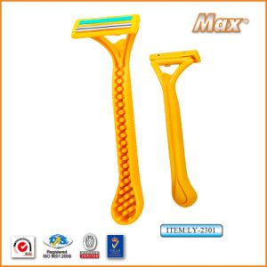 Platinum Coated Stainless Steel Twin Blade Disposable Shaving Razor (LY-2301) pictures & photos