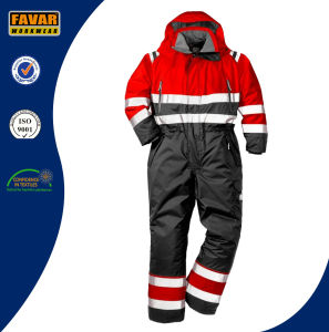 Cold Weather High Vis Protect Winter Insulated Coveralls for Men