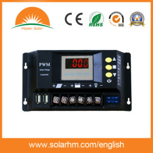 Guangzhou Factory Price 12V/24V 60A LED Solar Power Controller pictures & photos