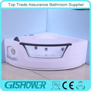 Cheap Bathroom Corner Bathtub with Glass (KF-641) pictures & photos