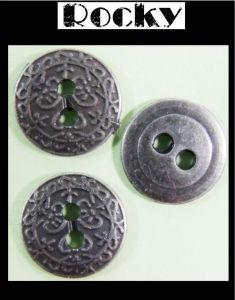 Anti Silver Metal Button Two Hole Button