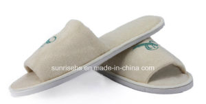 Comfortable Terry Towel Slipper with Open Toe pictures & photos