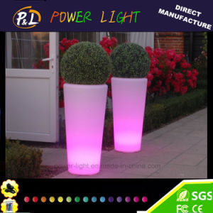 Garden Furniture Round Color Changing Lighting LED Planter pictures & photos