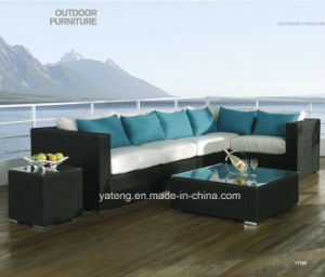 New Style Top Quality Synthetic Rattan Outdoor Garden Furniture Cornor Sofa Set (YT328) pictures & photos