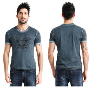 Factory Made Men′s Enzyme Wash T-Shirt pictures & photos