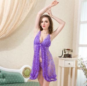 Sexy Mesh Lace Sexy Lingerie Baby Doll Open on The Front