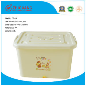 Plastic Storage Container Box with Wheels pictures & photos