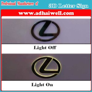 3D Car Logo Stainless Steel LED Light Box Sign pictures & photos