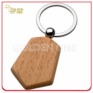 Creative Design Good Quality Shield Shape Wooden Key Chain pictures & photos