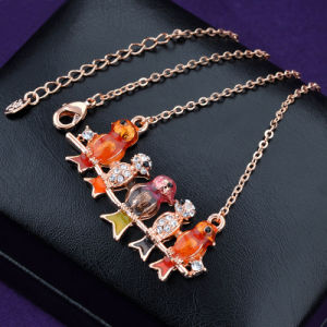 Newest Enamel and Resin Bird Shaped Rose Gold Jewelry Necklace pictures & photos