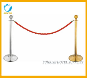 Double Lines Belt Barrier Stanchion pictures & photos