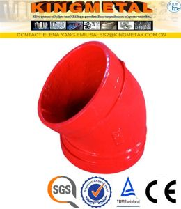 300 Psi Ductile Iron 45 Degree Grooved Elbow Fittings pictures & photos